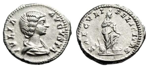 Ísis, a deusa da fertilidade do Egito, retratada num denário romano.