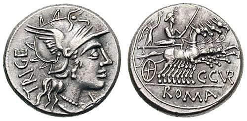 Juno, a deusa da fertilidade romana, era bastante retratada no reverso de moedas antigas romanas.