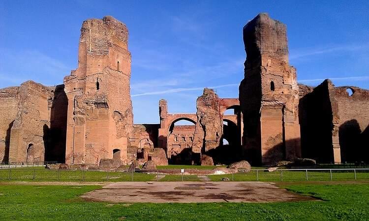 Banhos romanos construído no governo de Caracala.