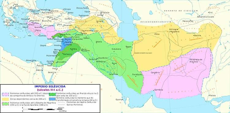 Territórios do Reino Selêucida entre 200-64 a.C.